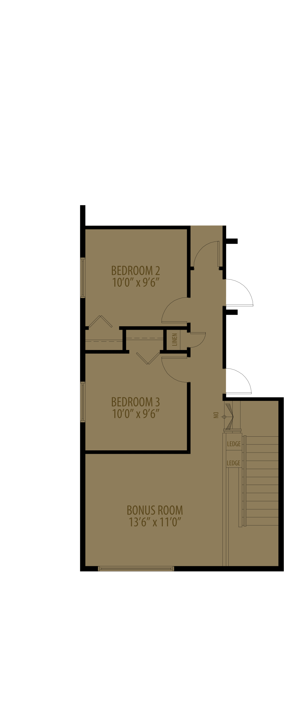 Bonus Room Adds 146 Sq Ft