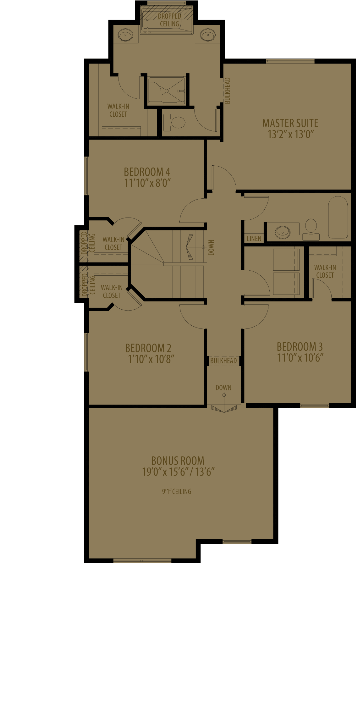 4Th Bedroom With Revised Ensuite (Adds 61 Sq Ft)