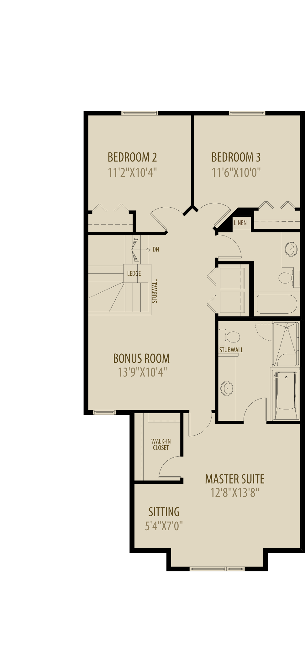 Optional Bonus Room Adds 241Sq Ft