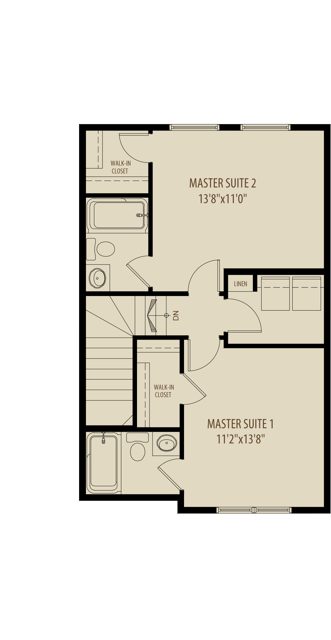 Dual Master Suites W  Laundry Adds 20 Sq Ft