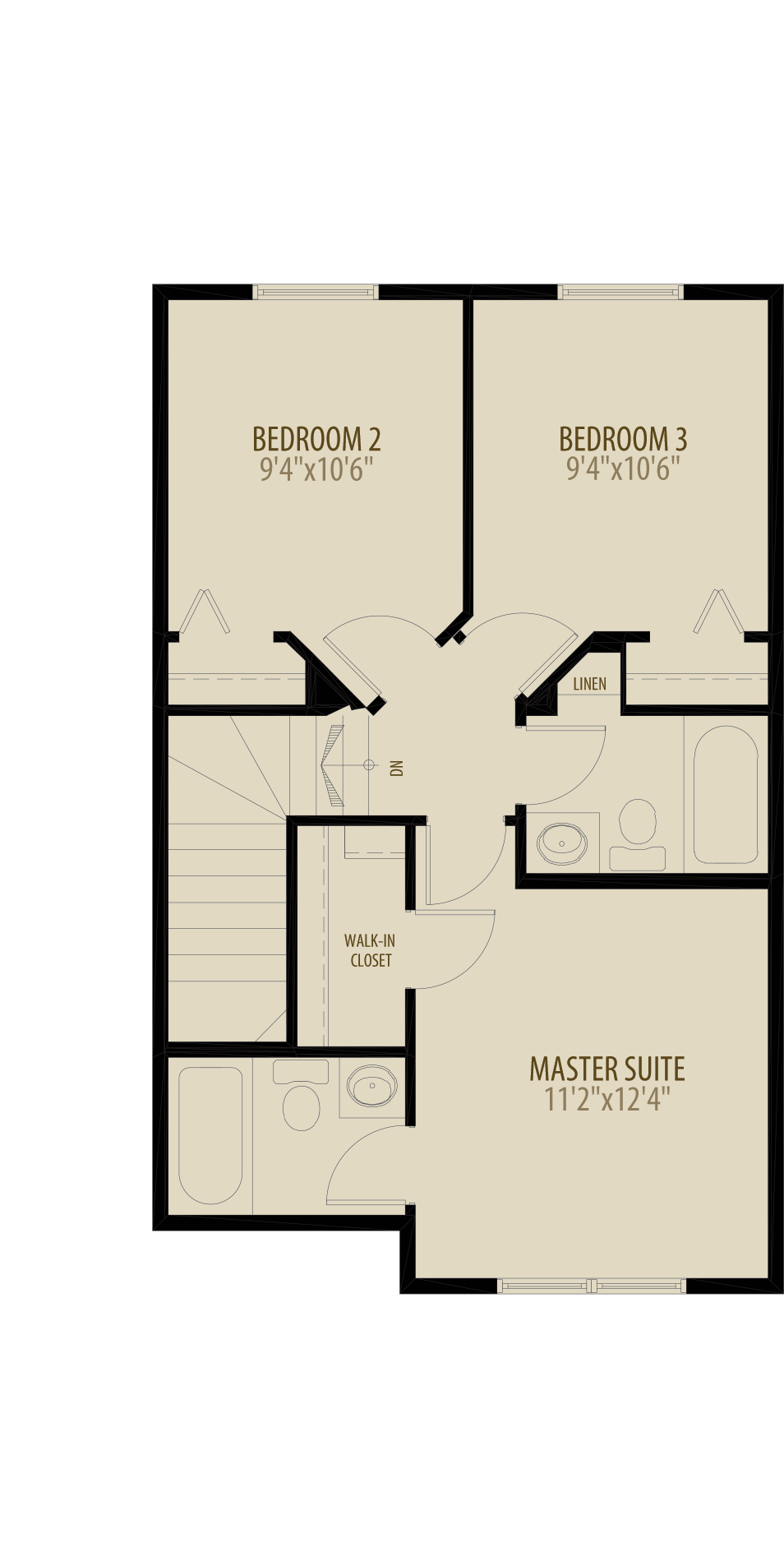 Expanded Bedrooms Adds 32Sq Ft