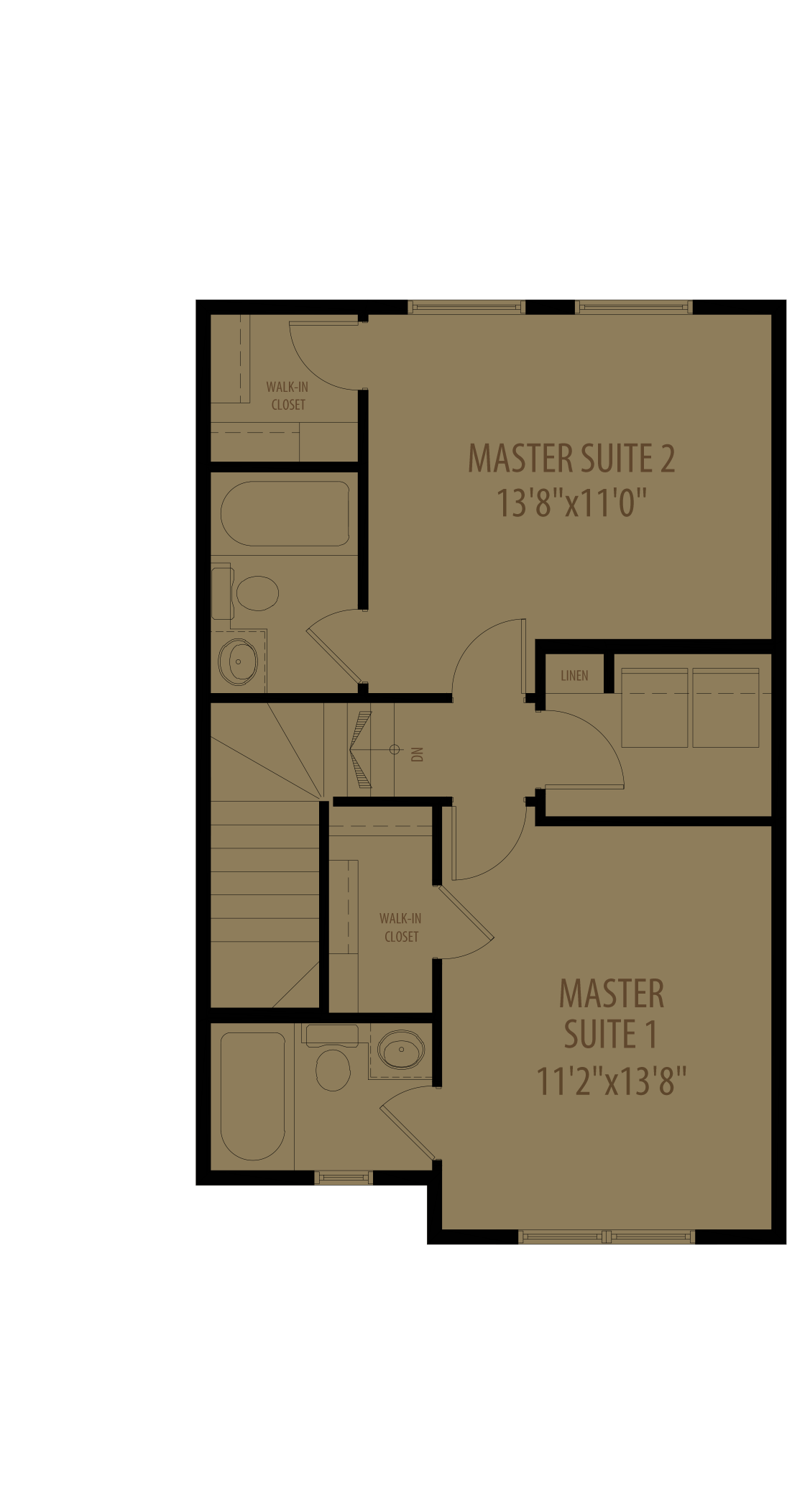 Dual Master Suites With Laundry