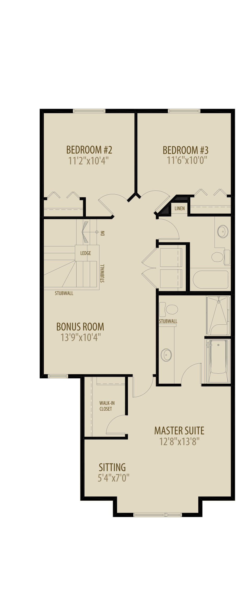 Optional Bonus Room adds 241 sq ft