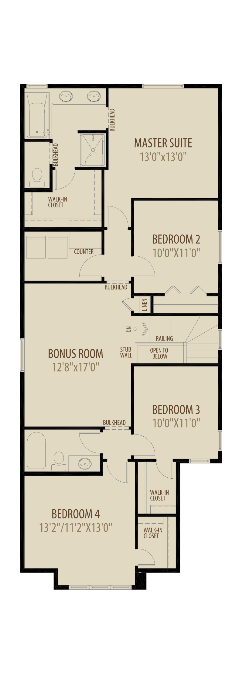 Option 9 4th Bed Central Bonus Room adds 236sq ft