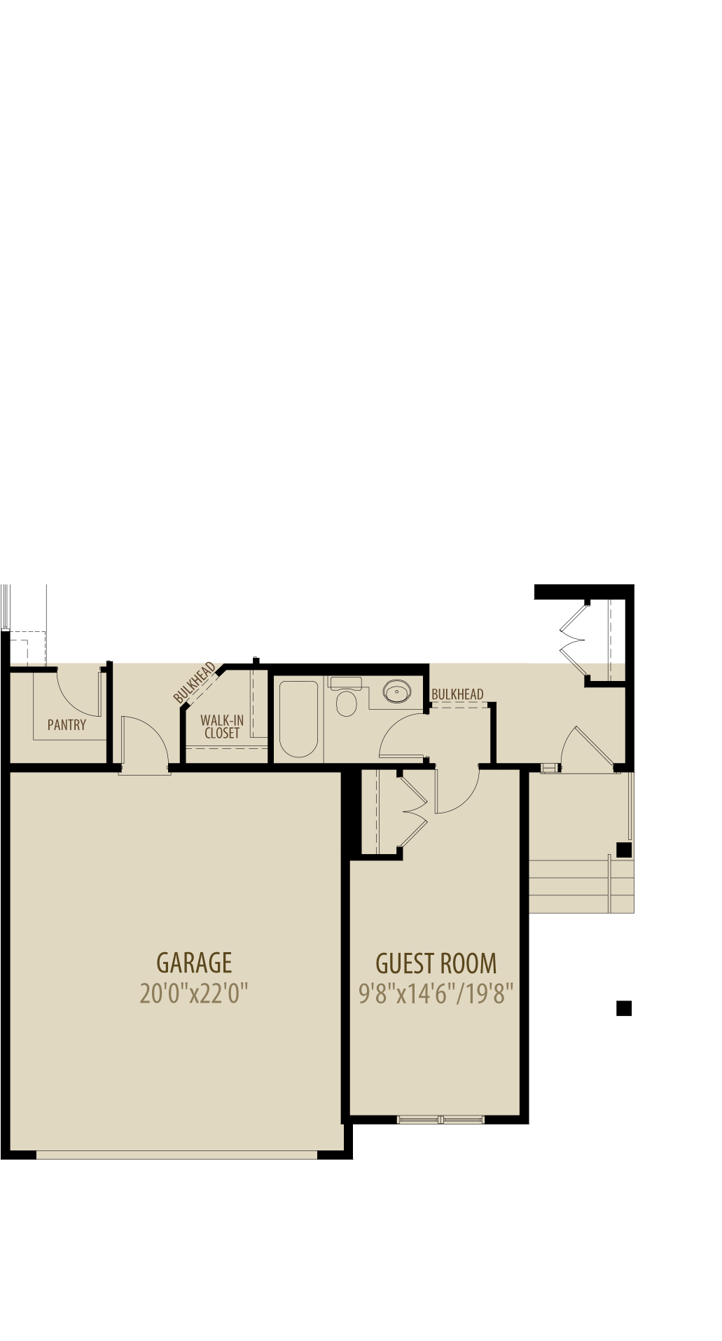 Guest Room Adds 213Sq Ft