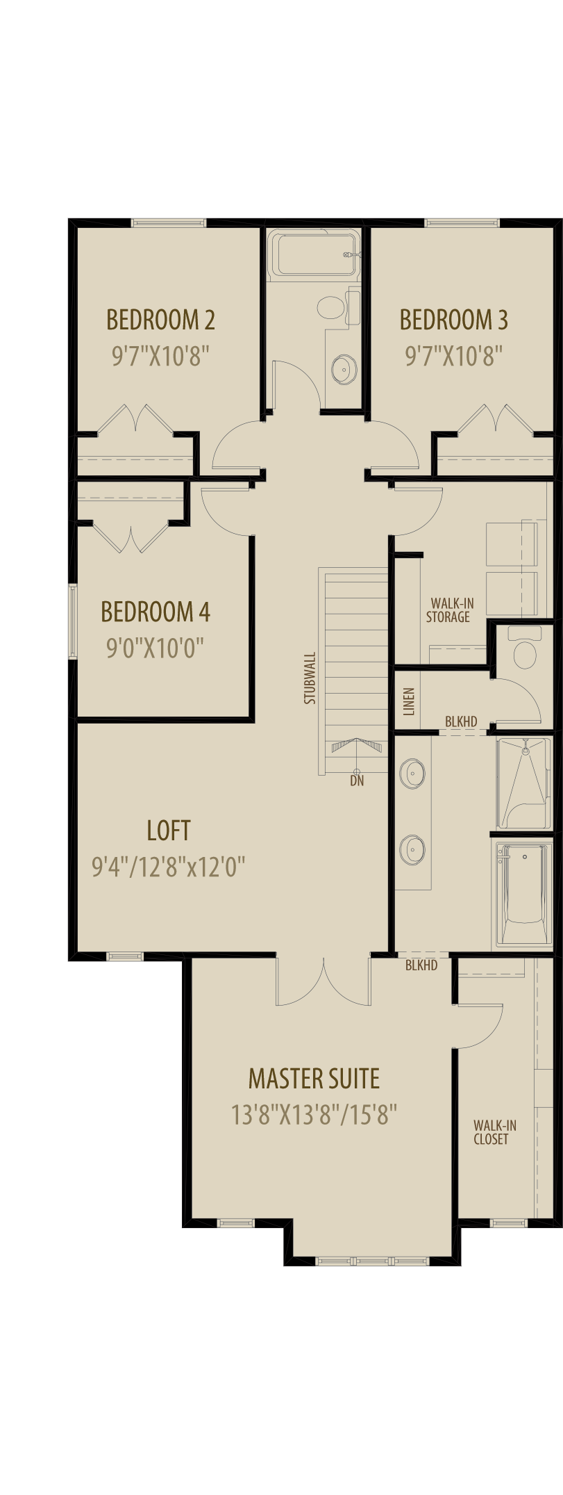 Revised Upper Floor With 4Th Bedroom
