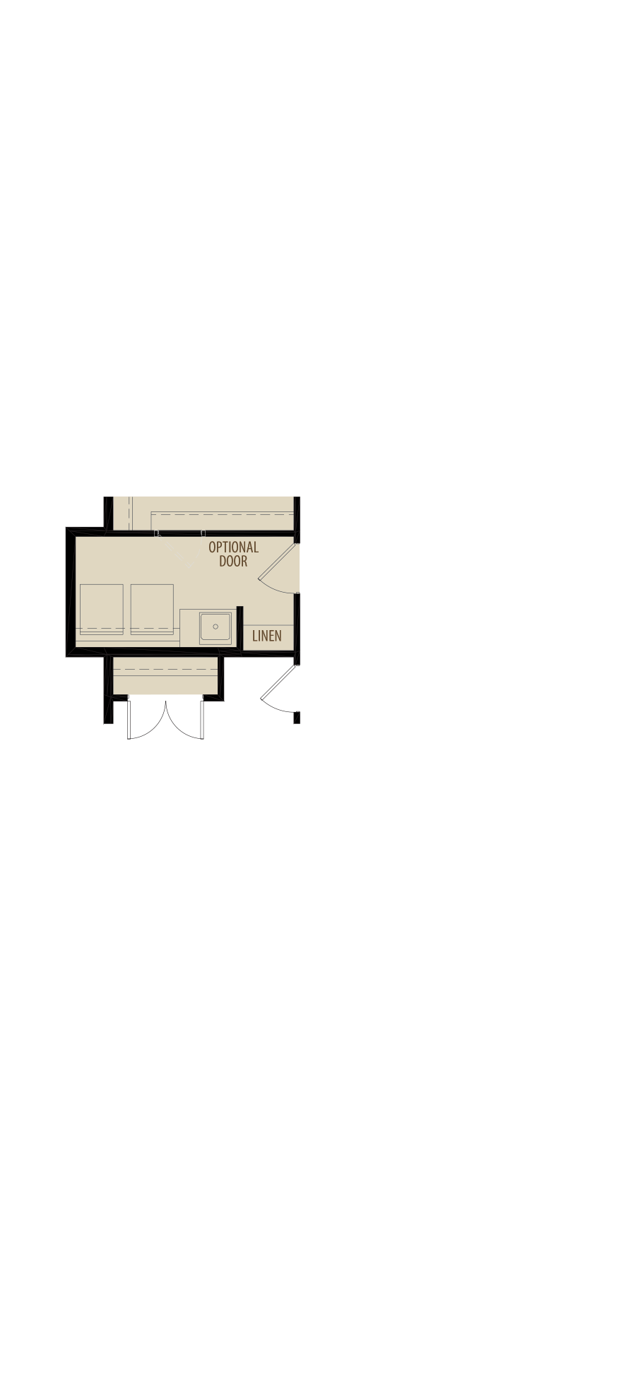 Revised Upper Floor Laundry adds 14 sq ft