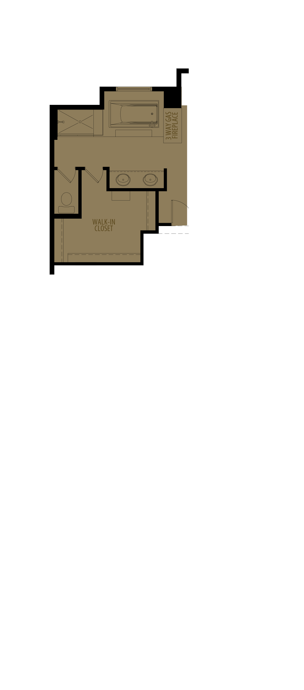Revised Ensuite Layout (Adds 8 sq ft)
