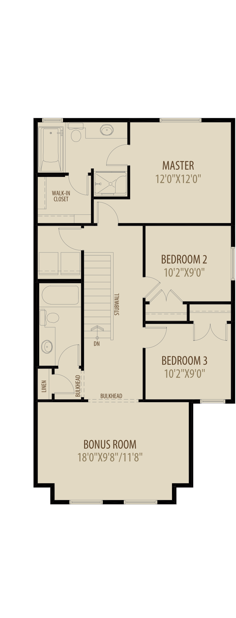Revised Upper Floor Adds 58Sq Ft