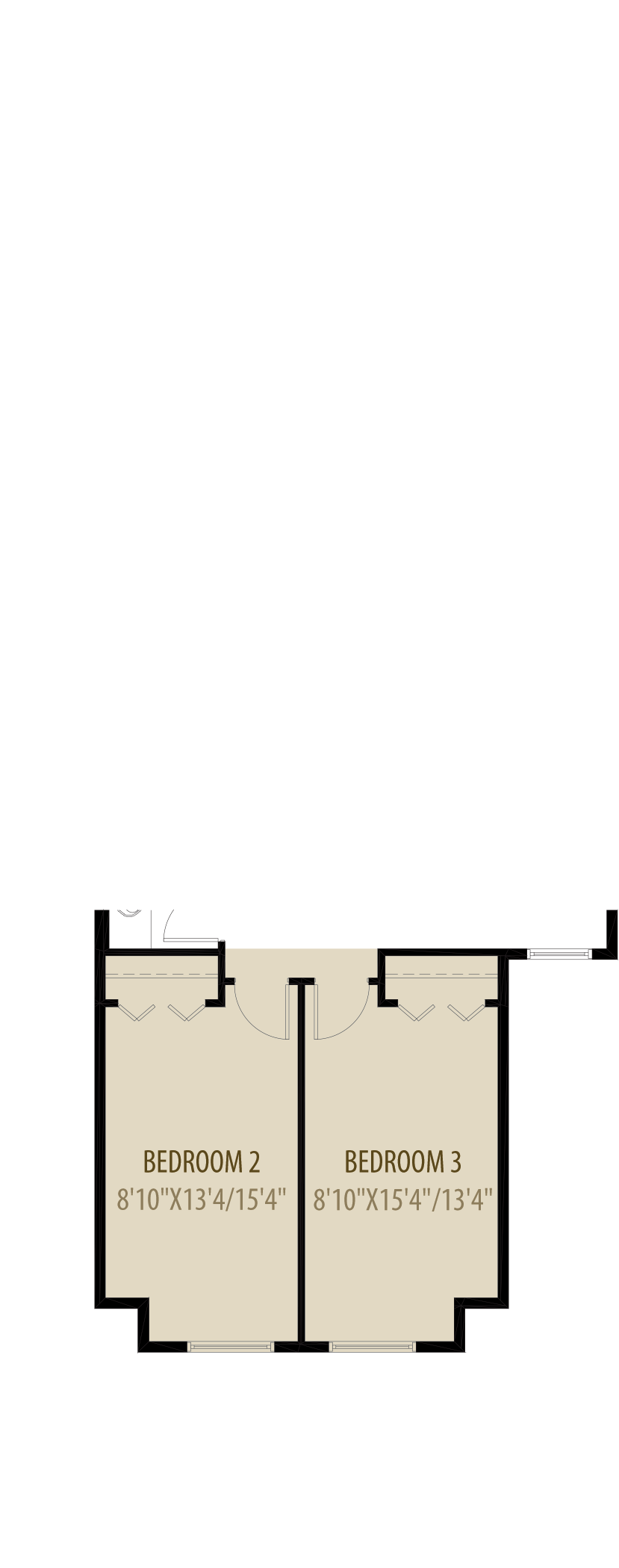 Option 3 Extended Bedrooms Adds 76Sq Ft
