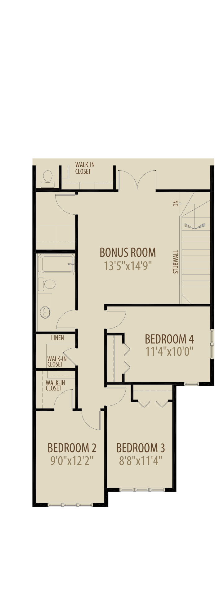 Option 3 4th Bedroom adds 229 sq ft