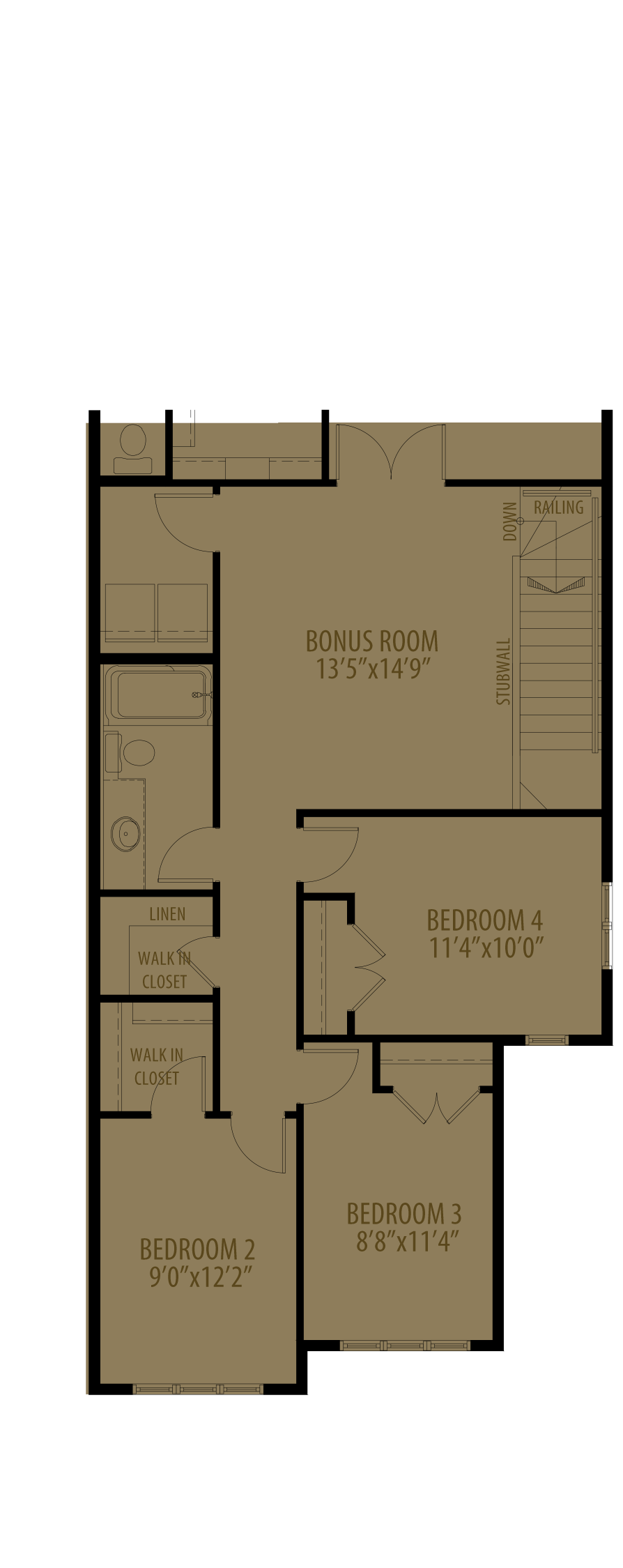 4th Bedroom Adds 229 sq ft