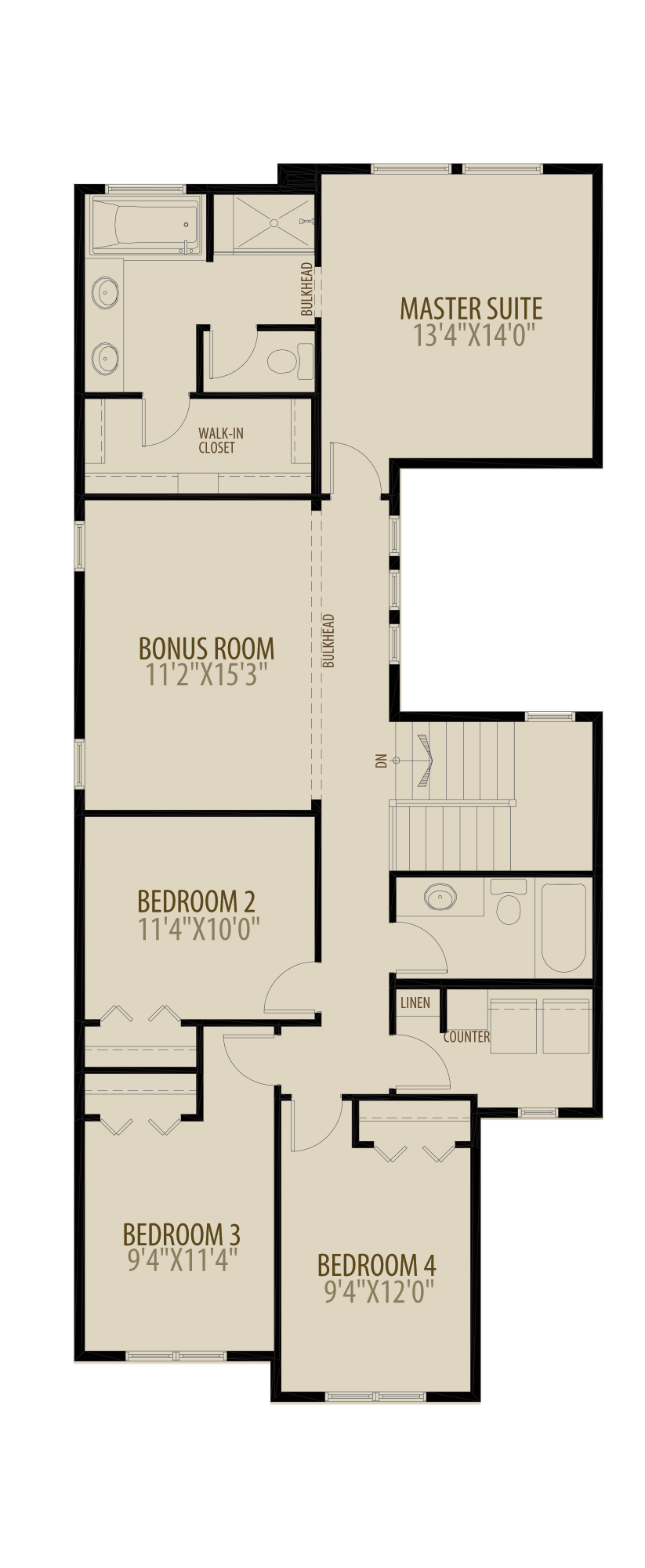 Optional 4th Bedroom adds 132 sq ft