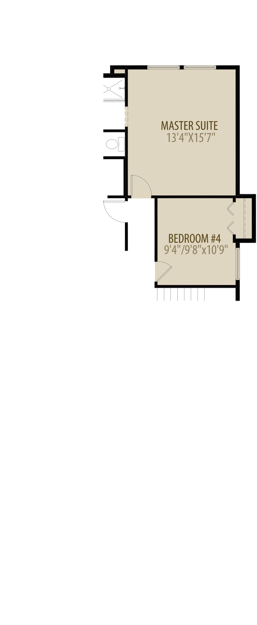 Alternate Optional 4th Bedroom adds 132 sq ft