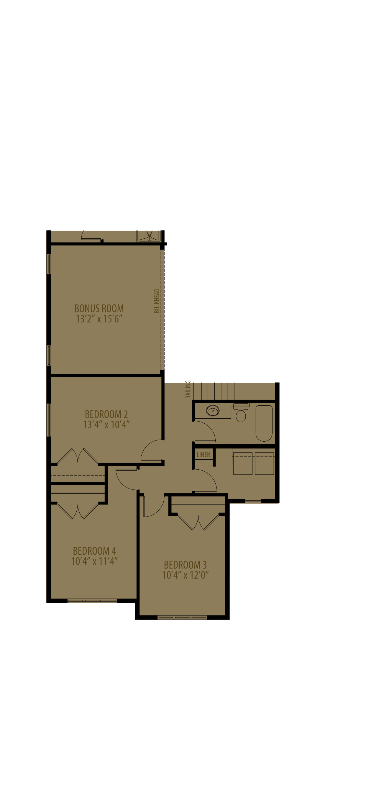Optional 4th Bedroom adds 136 sq ft