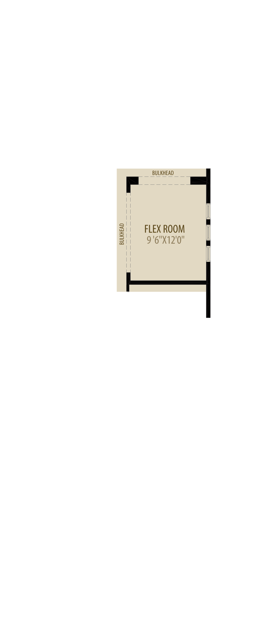 Flex Room Adds 120 sq ft