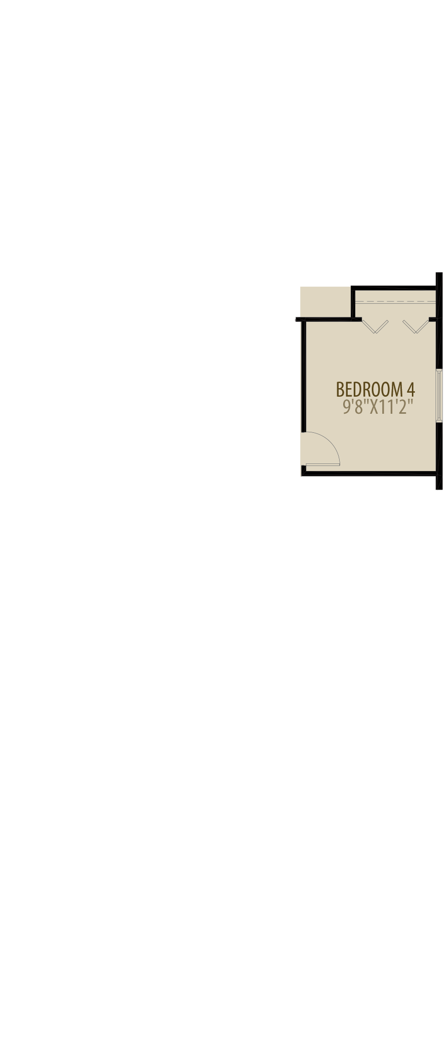 4th Bedroom adds 120 sq ft