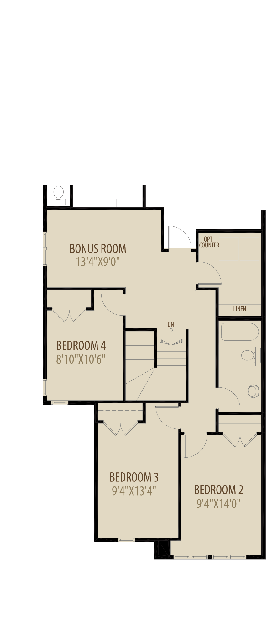 4Th Bedroom Revised (Adds 100 Sq Ft)