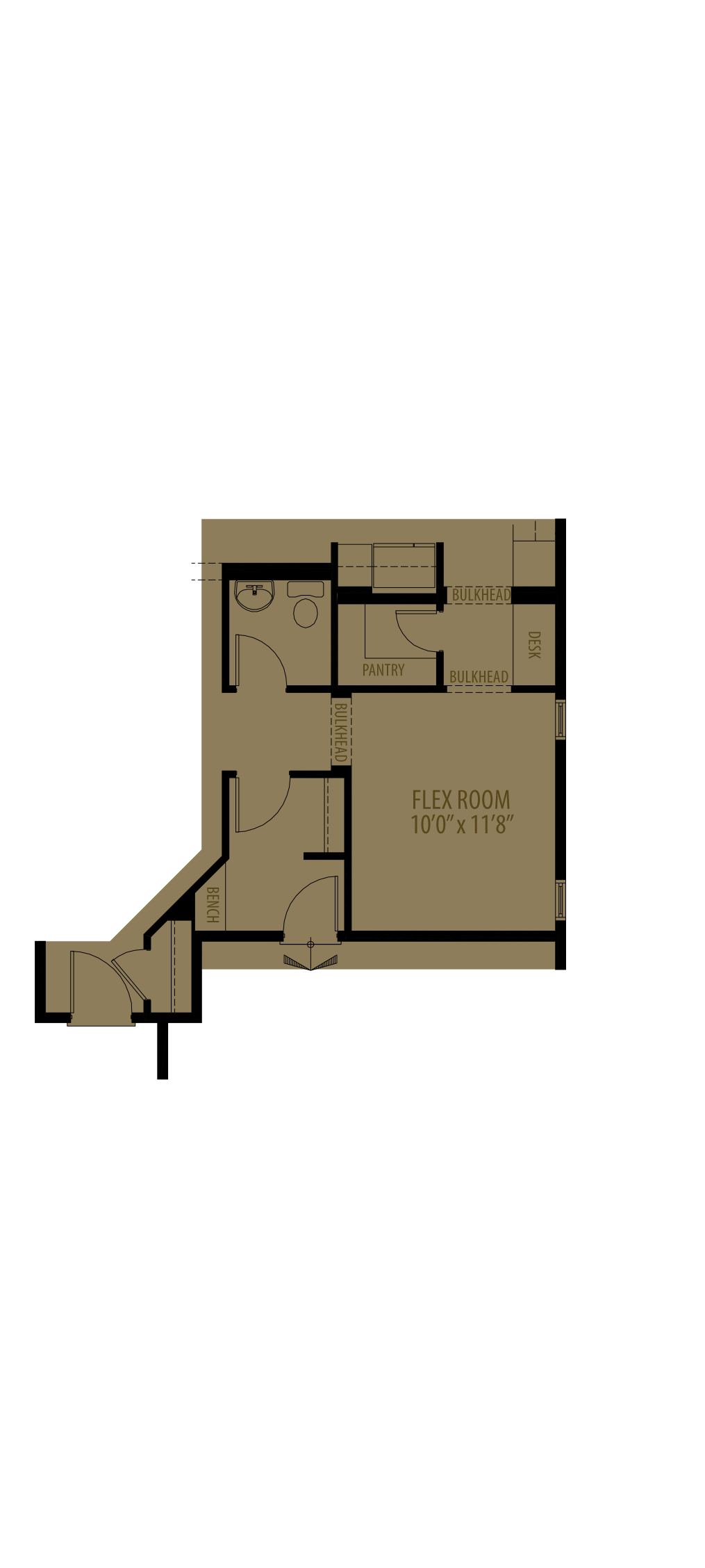 Flex Room Adds 165 Sq Ft