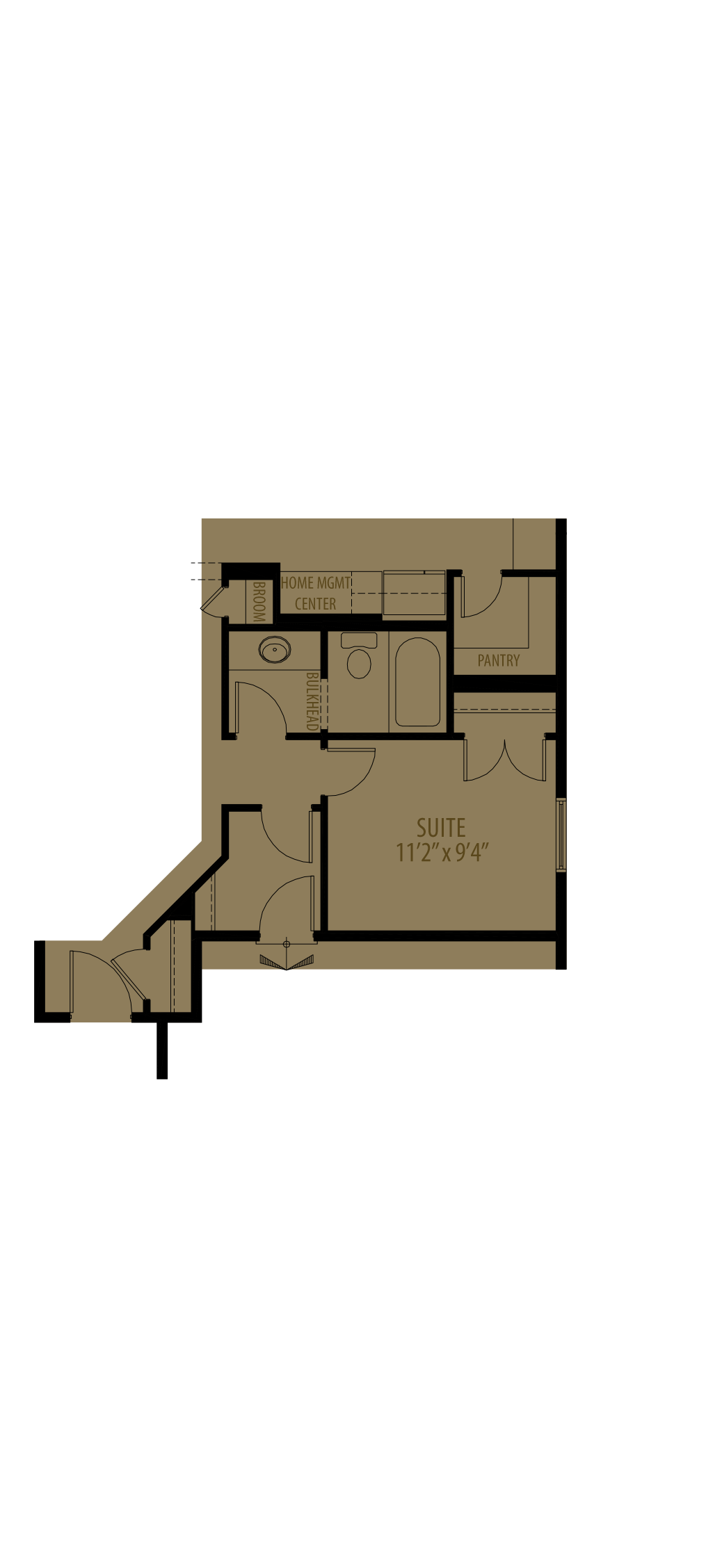 Main Floor Suite Adds 165 Sq Ft