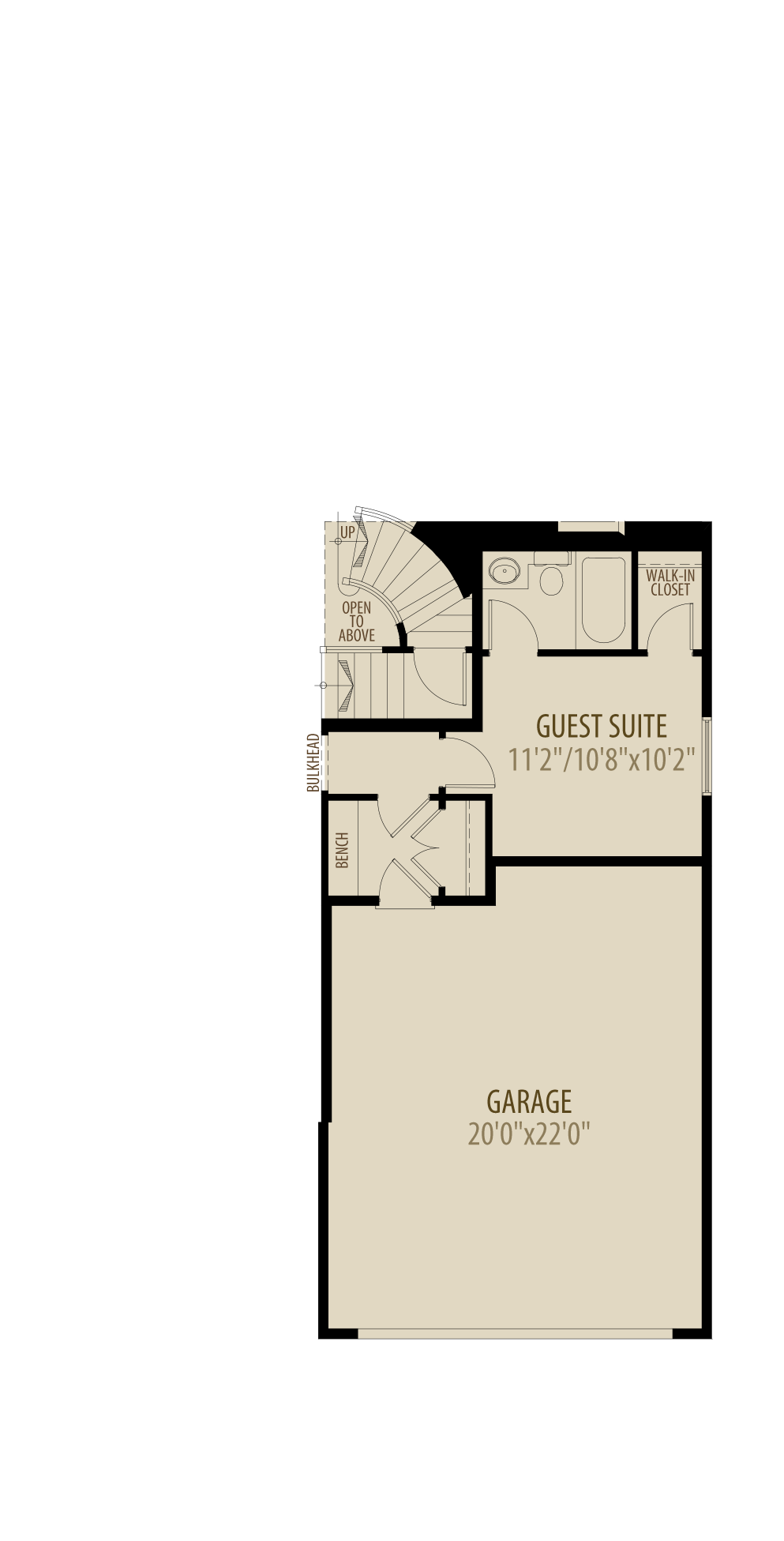 Guest Suite Adds 176Sq Ft