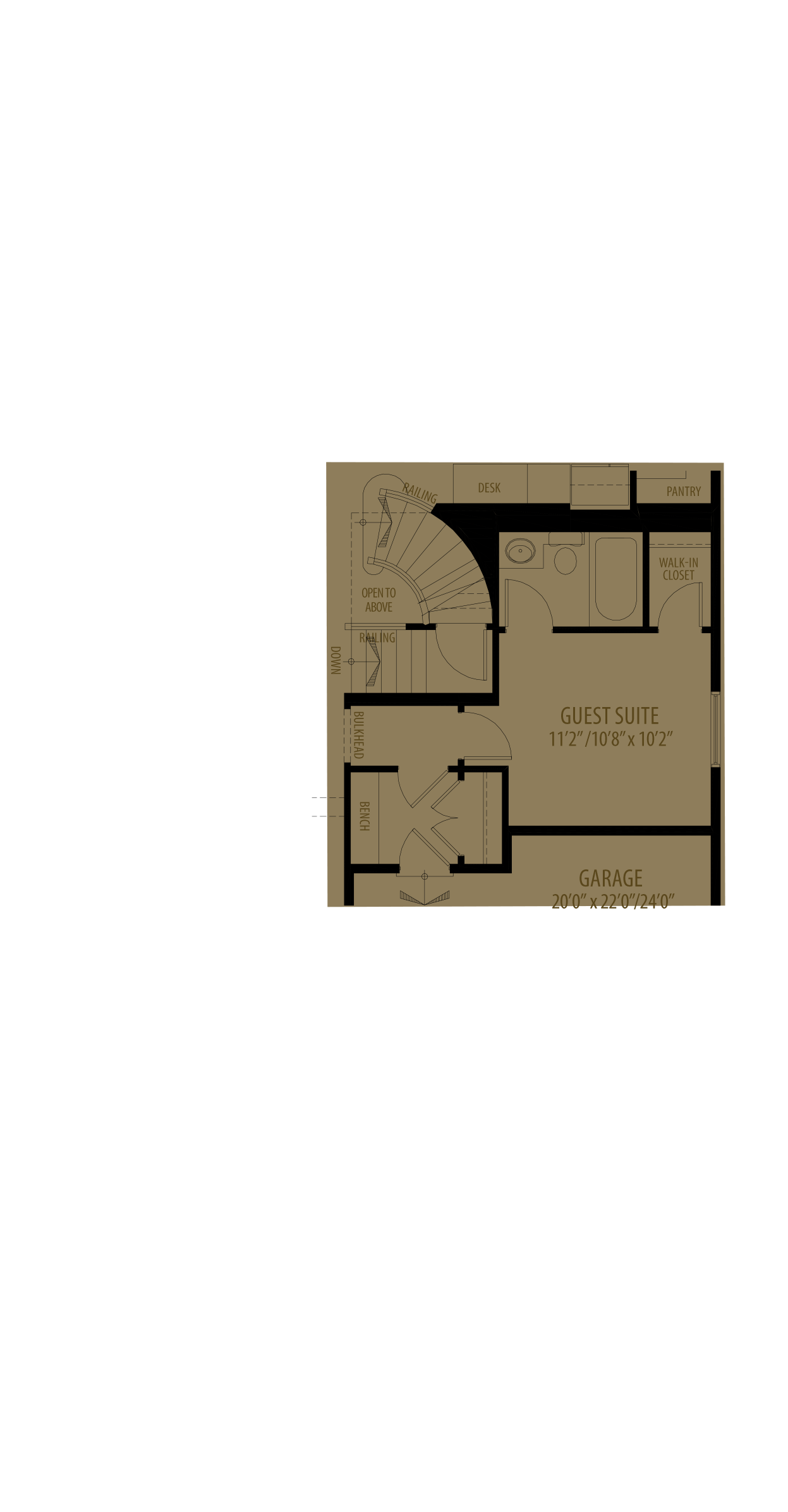Guest Suite Adds 176 Sq Ft