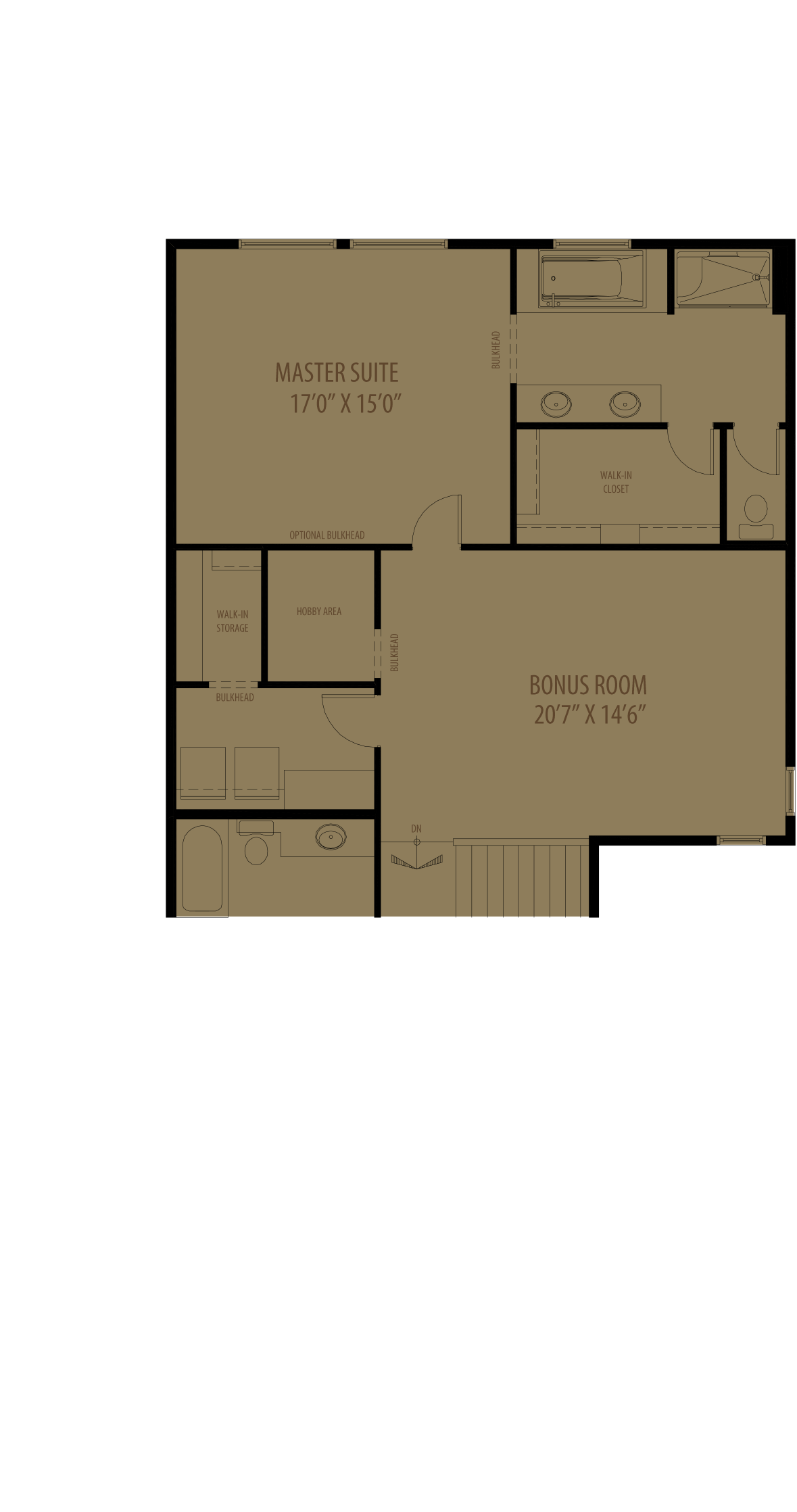 Center Bonus Room With Hobby