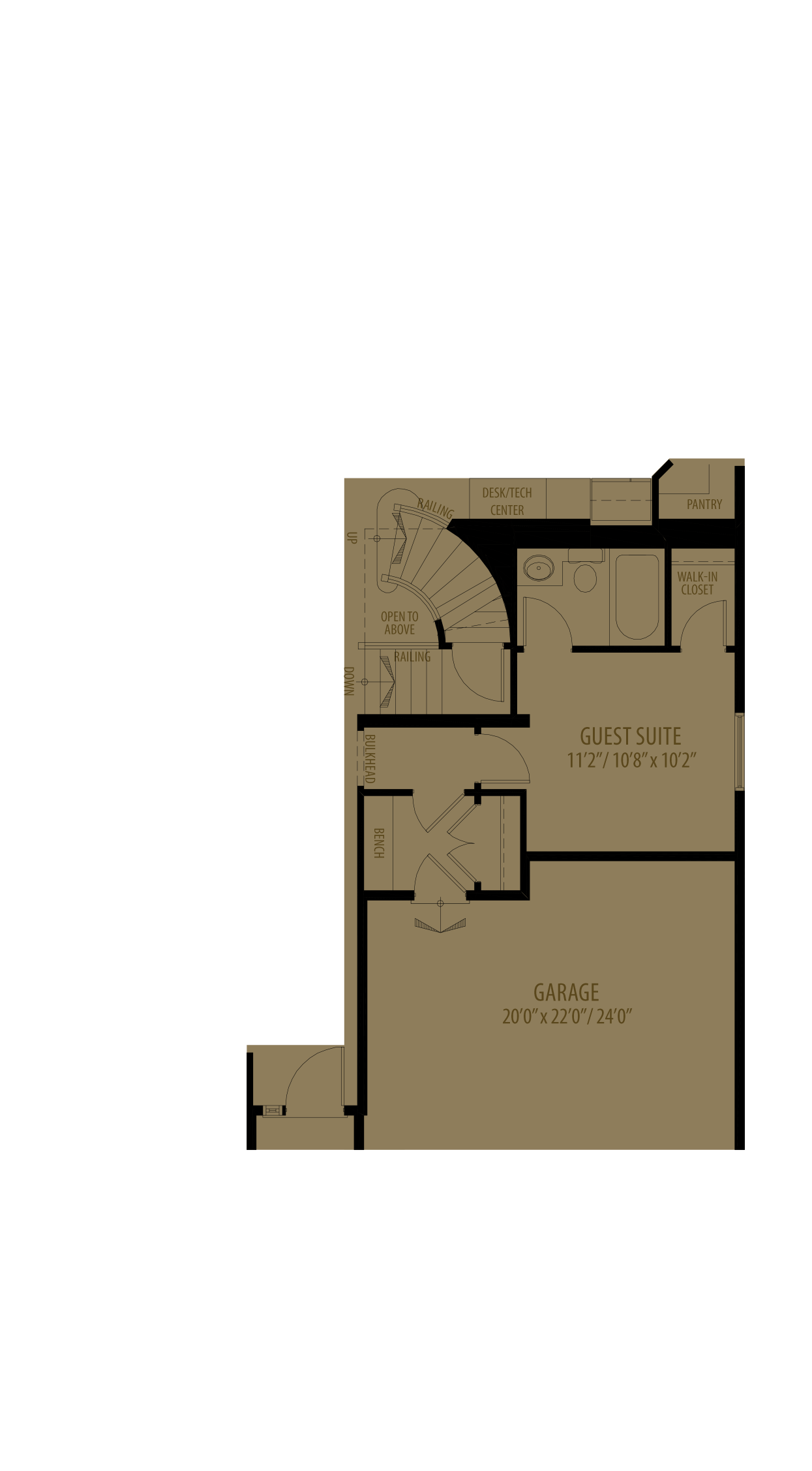 Guest Suite Adds176 Sq Ft