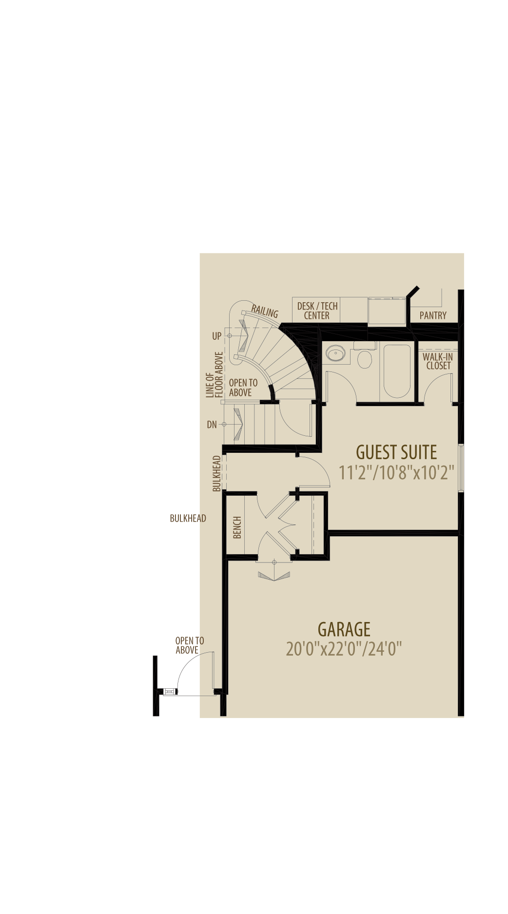 Option 2 Guest Suite adds 176sq ft