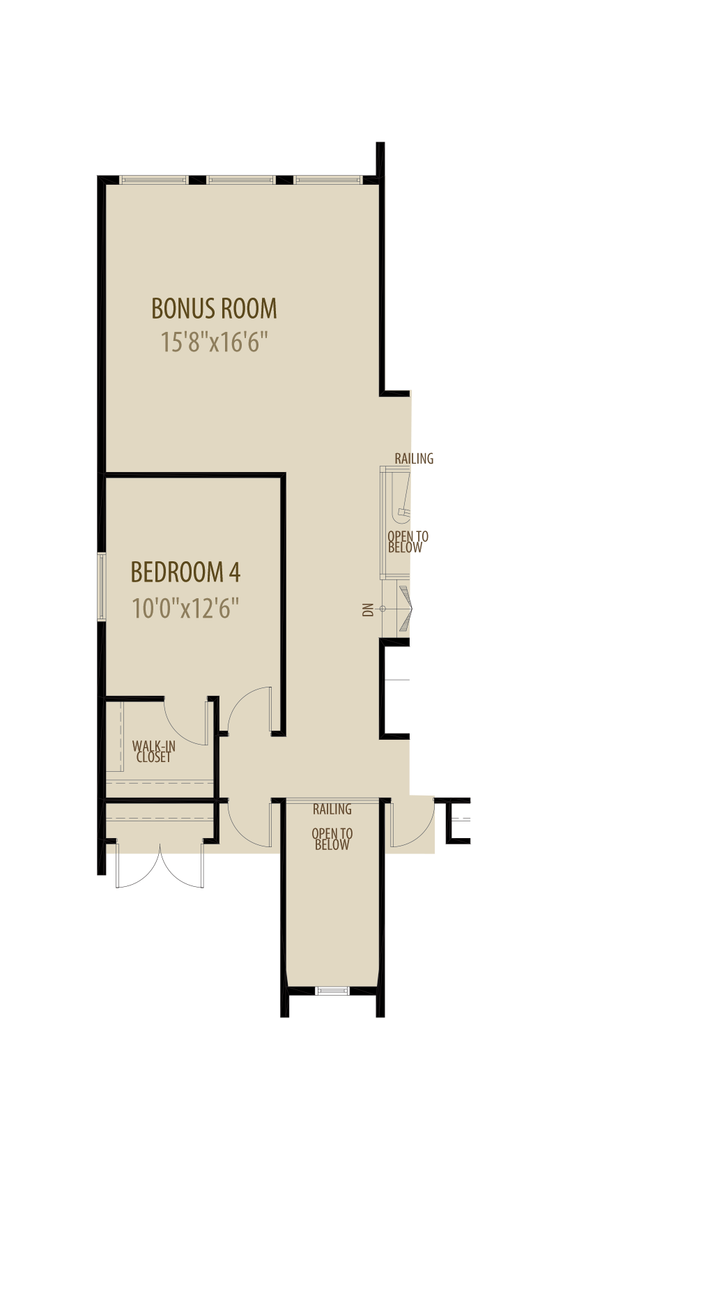 4th Bedroom adds 218sq ft