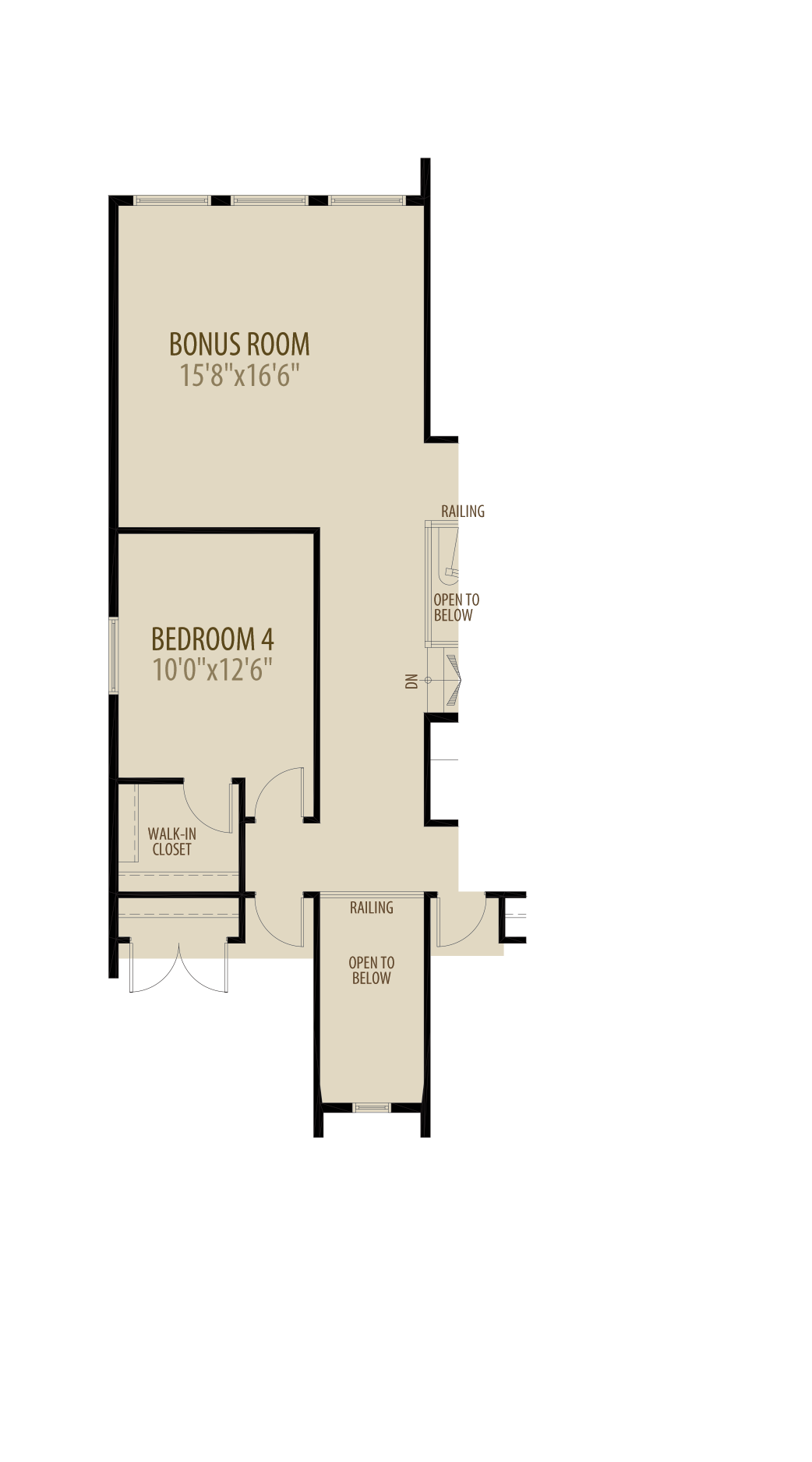 Option 4 4th Bedroom adds 218sq ft