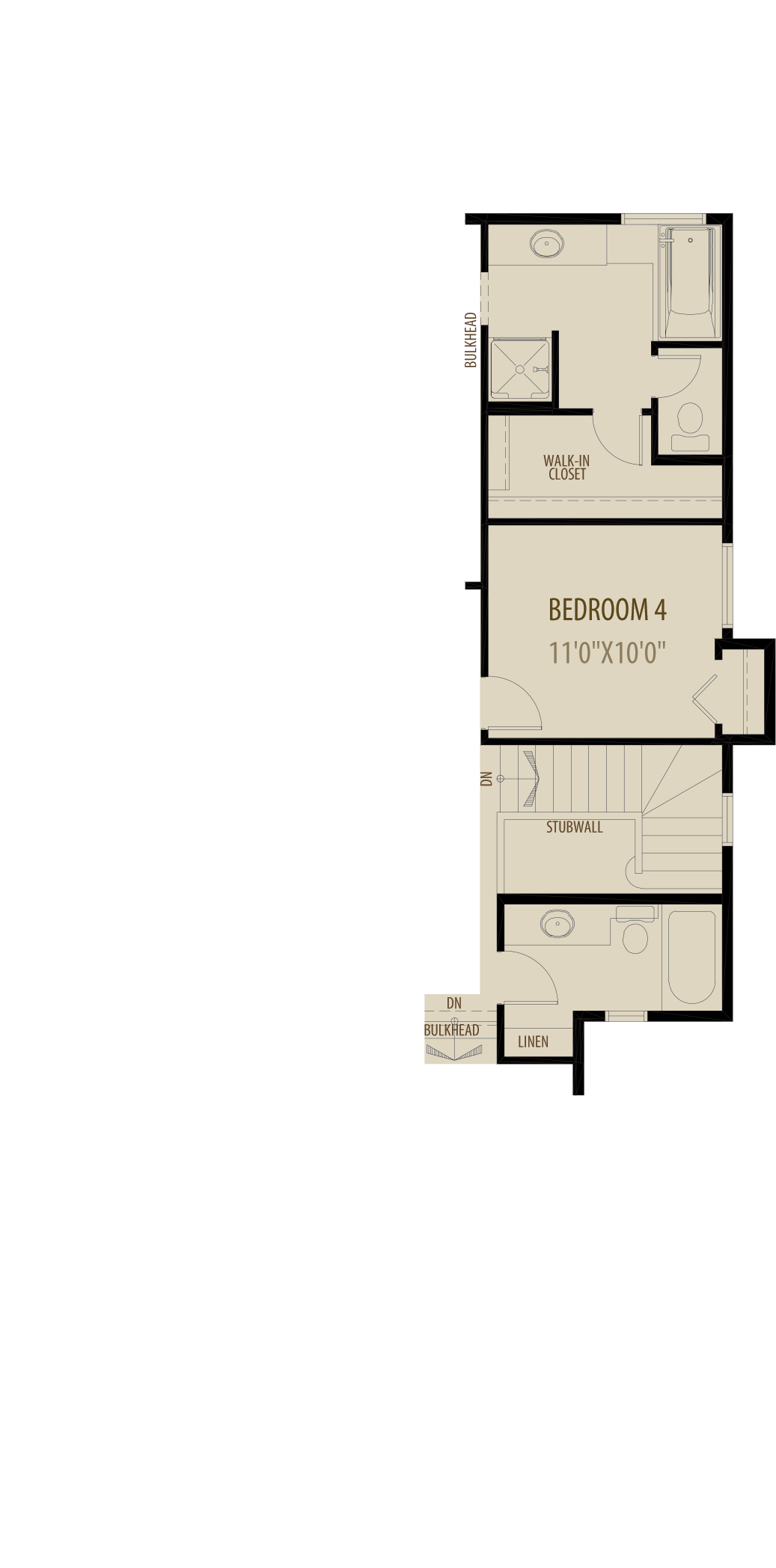 4Th Bedroon Revised Ensuite Adds 72Sq Ft