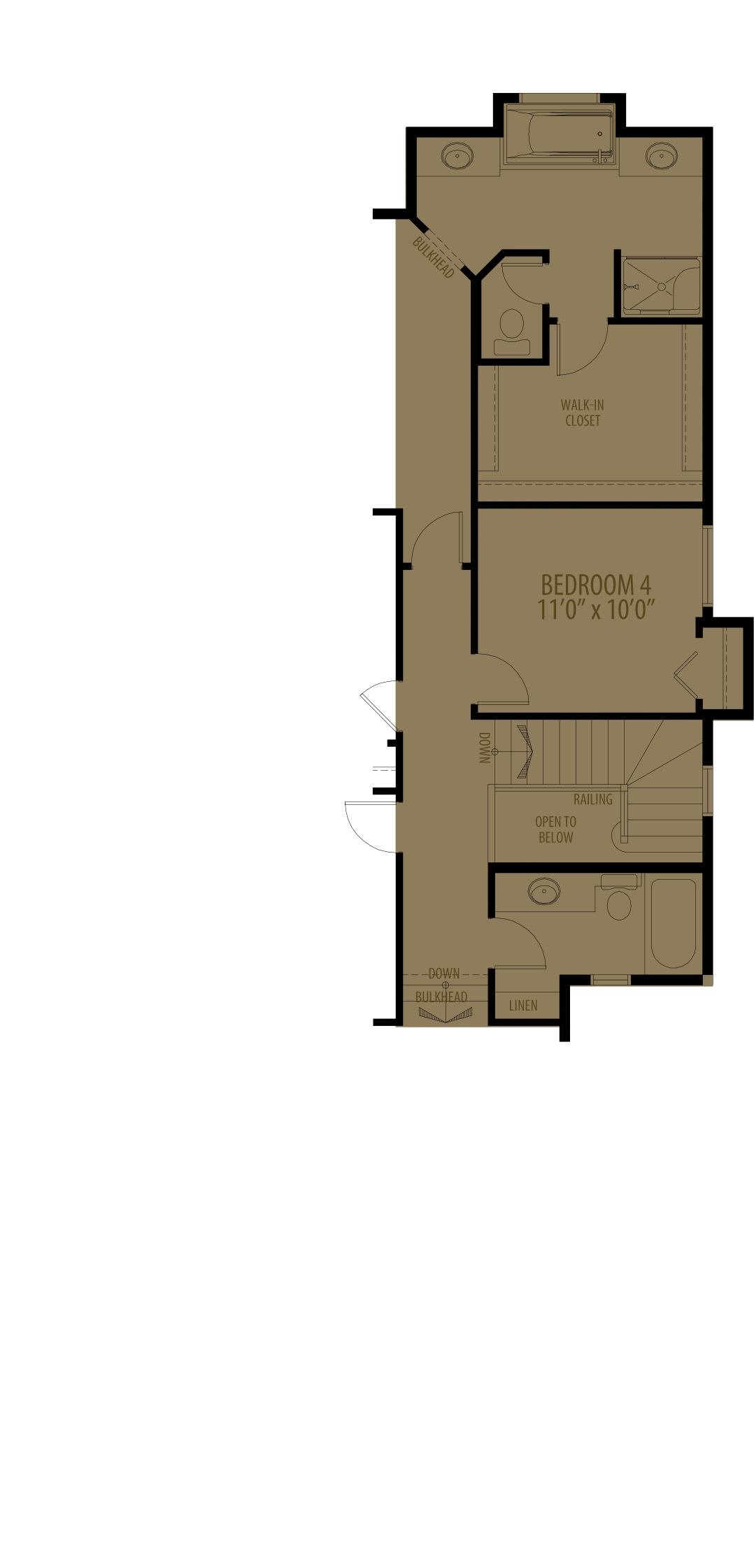 4Th Bedroom Deluxe Ensuite adds 143 sq ft