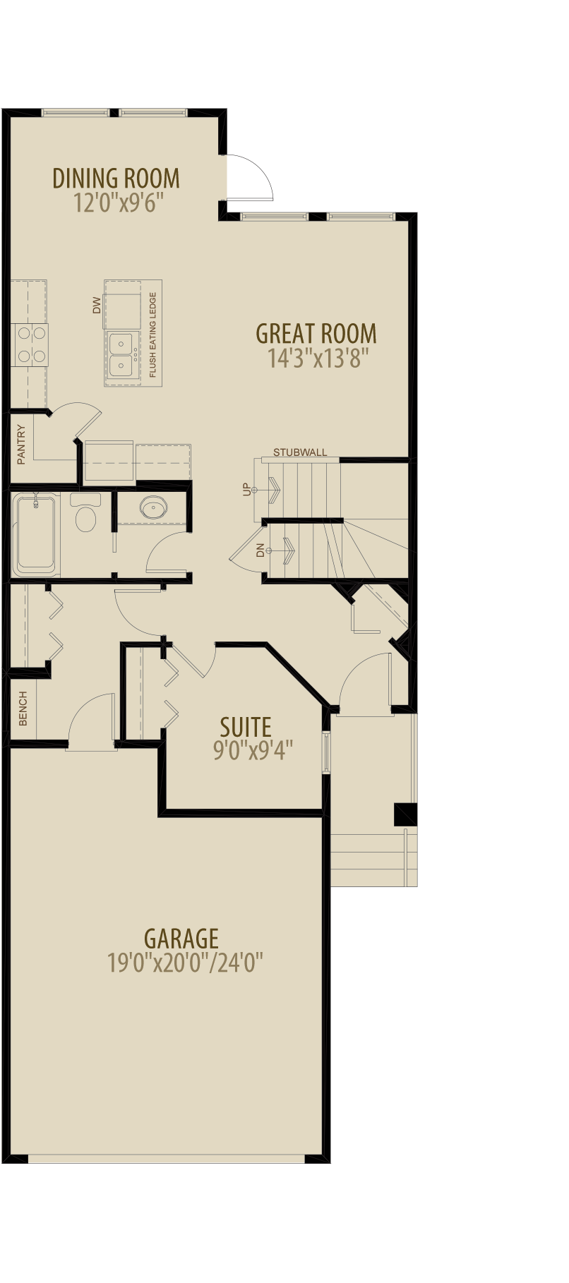 Main Floor Suite Adds 40 sq ft