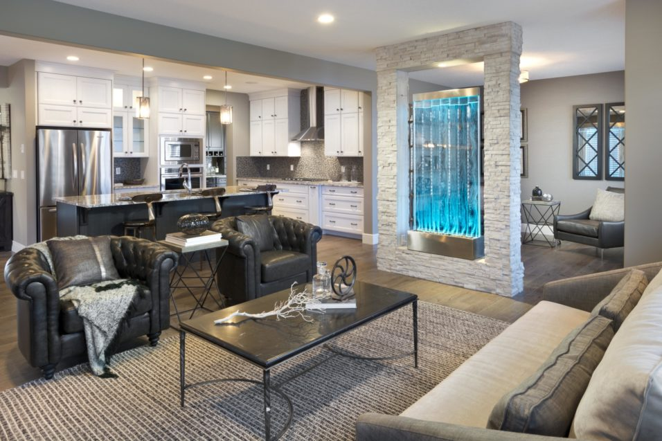 Morrison Homes Mahogany Georgetown Showhome Great Room Kitchen 2014